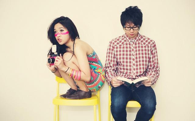 cute couple photoshoot idea. :)