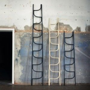 Lladder with curving linked rungs by Gothenburg designer Charlie Styrbjörn