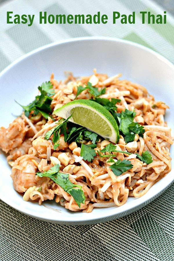 Homemade Pad Thai, just made and it is delicious!
