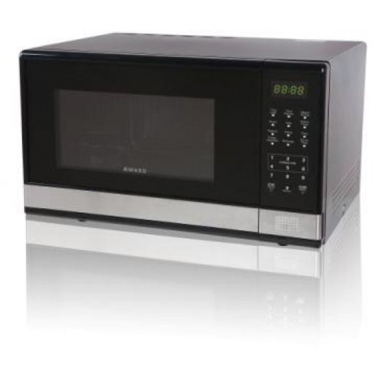50cm Microwave - 25L Oven by Award (MWO25)   Features:  25 Litre Capacity 5 Power Levels Multiple Cooking Options incl. Weight & Speed Defrost & Express Cooking Defrost 24 Hour Digital Clock with 95min Auto Timer Child Safety Lock on Controls Grey Enamel Interior Cavity
