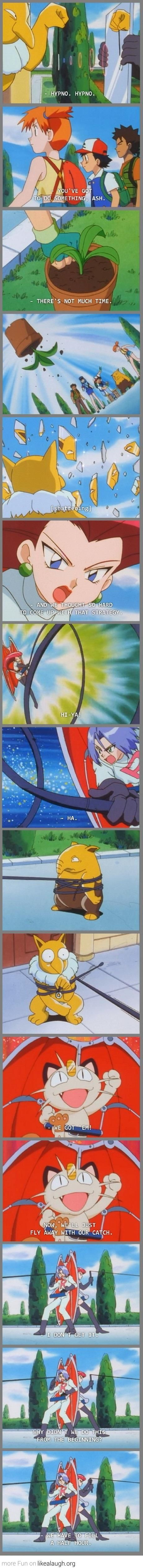 Pokemon breaking the fourth wall was the absolute best,