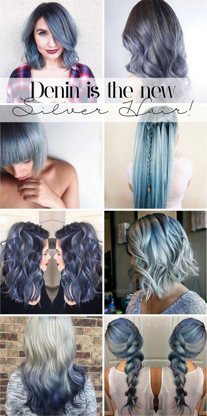Depois de todo sucesso do silver ou granny hair, quem manda agora é o azul jeans. Quem já estava com os cabelos platinados já tem meio ca...