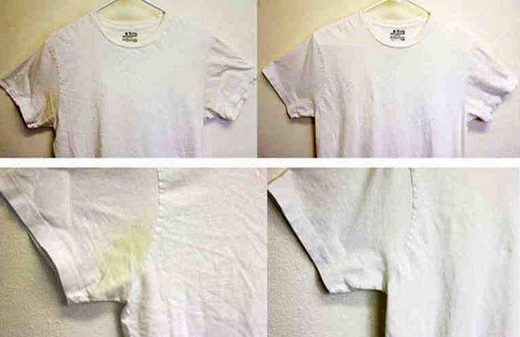 Las manchas de sudor aparecen debido a una reacción entre los productos antitranspirantes y las sales presentes en el sudor. La mayoría de los antitranspirantes contienen compuestos de aluminio para reducir la humedad y es este compuesto el causante de estas antiestéticas manchas de sudor. La