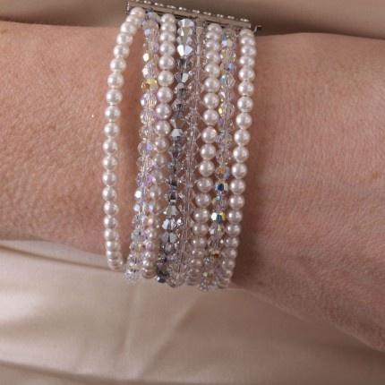 Swarovski parel armband | www.widaro.nl