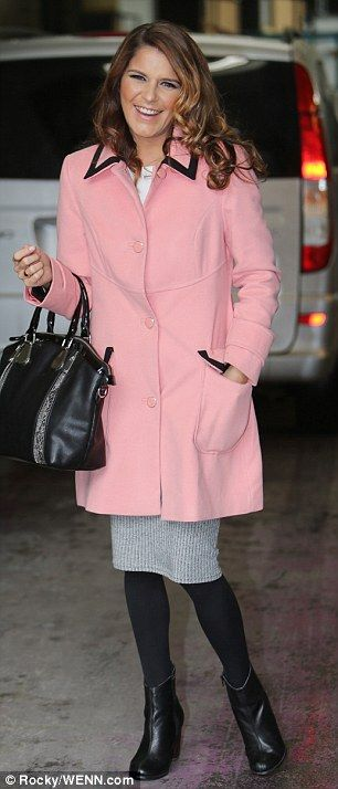 Emmerdale actress Gemma Oaten smiled and waved at the cameras as she arrived at the ITV St...