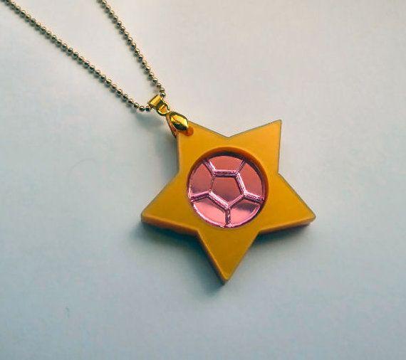 Cuarzo rosa collar del universo de Steven por Miyuka en Etsy