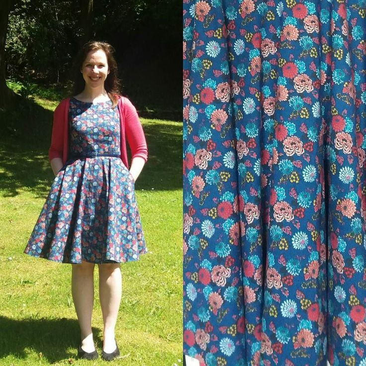 Ending #mmmay16 on a high - new favourite dress on a lovely sunny day (looks better without hands in pockets though!). It's an Emery bodice combined with Megan Nielsen Veronika skirt in Liberty chrysanthemum cotton. I've loved doing Me Made May but I won't miss taking pictures every day! #memademay #christinehaynespatterns #emerydress #megannielsenpatterns #veronikaskirt by foreverknittingcables