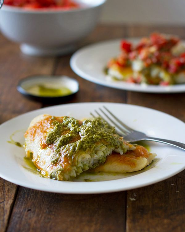 Sometimes I like to try complicated recipes, but, folks, this butcher gets busy and when I do I want my dinner quick and easy. That's why I keep a couple 5 ingredient recipes handy, like this cheesy pesto tilapia. Throw a fillet or two over some angel hair pasta and KAPOW! dinner is served. -- Kevin the Meatbay Butcher