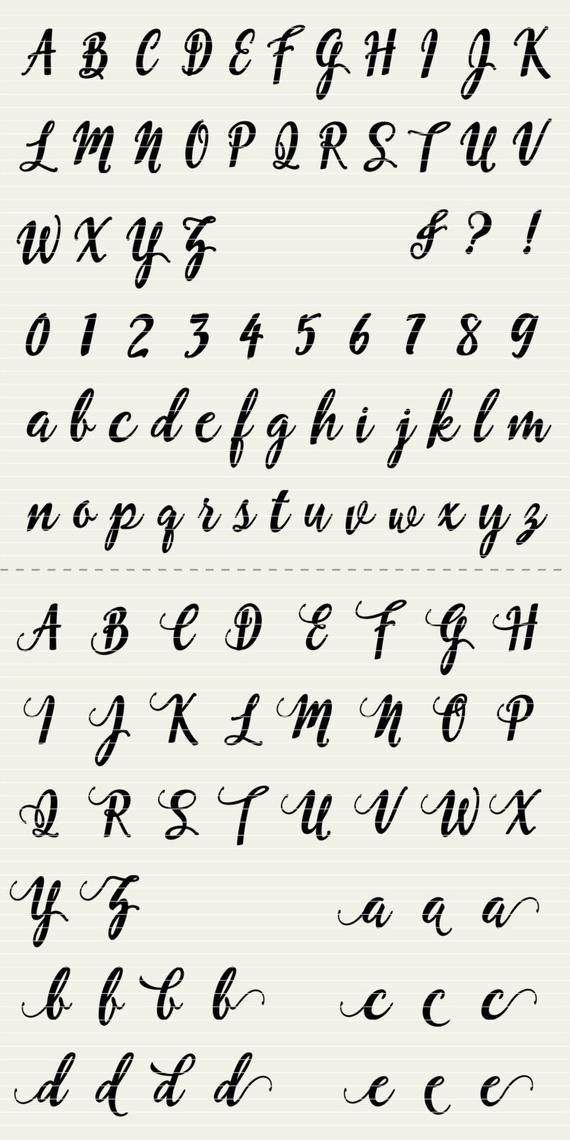 Download Full Alphabet SVG Fonts Cutfile Fun Modern Script cricut ...