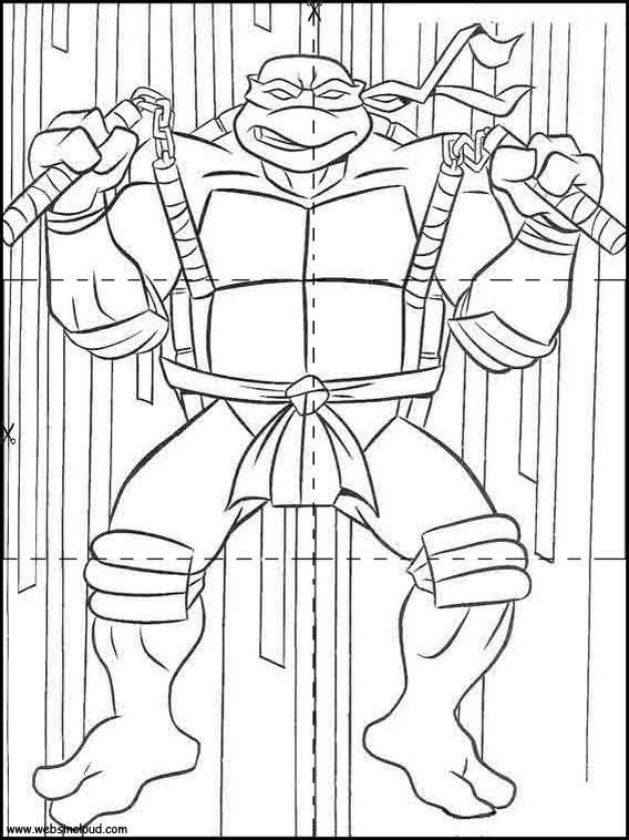 Rompecabezas Recortables Para Imprimir Para Ninos Tortugas Ninja