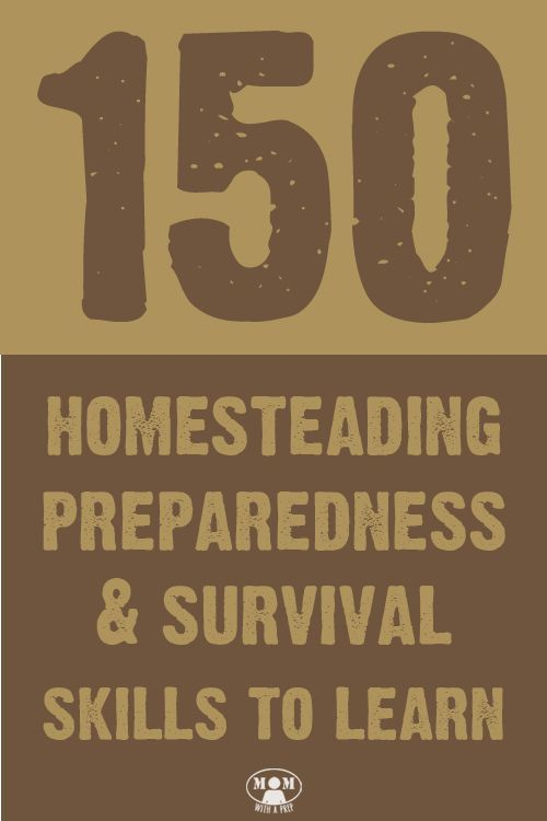 After reading this list of 150 Homesteading & Survival skills to learn, you should never say you are bored again! How many of these do you already know how to do?