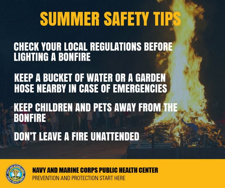 Keep everyone safe around your bonfire this summer! Click here for more #SummerSafetySaturday tips.