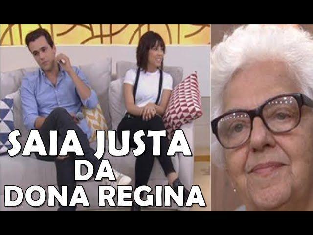 """Convidados do Encontro se irritam com """"Dona Regina"""" senhora da platéia que falou verdades."""