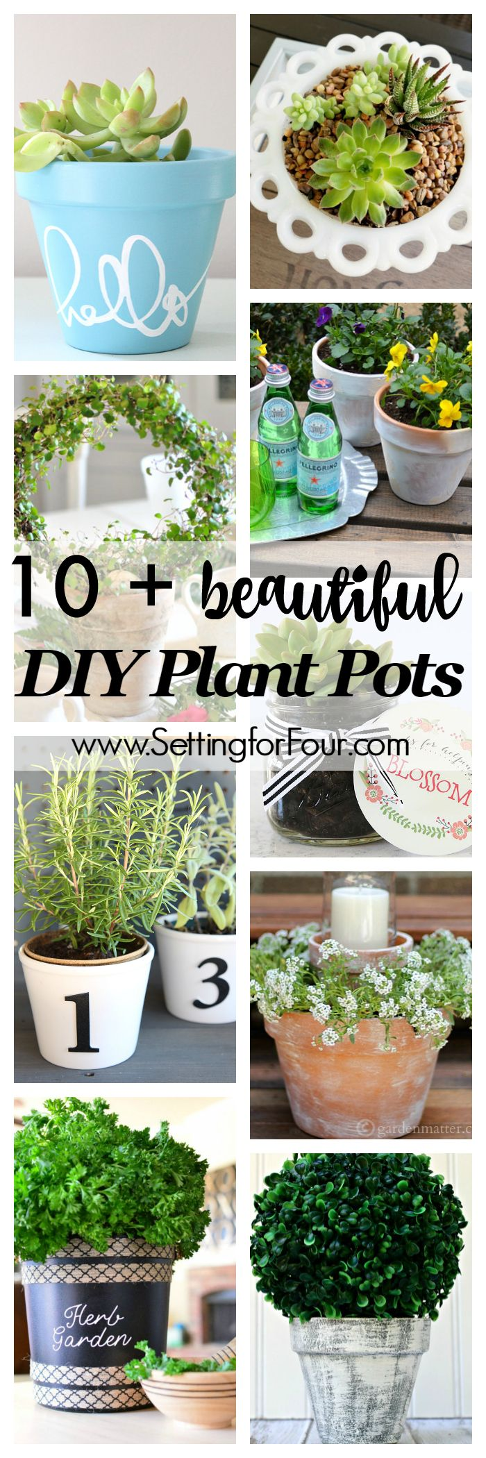 Top 30 stunning low budget diy garden pots and containers 187 home - 10 Beautiful Diy Plant Pots