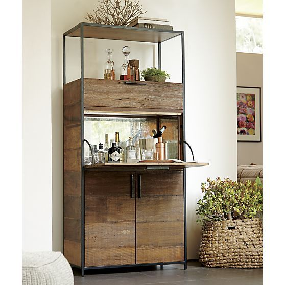 clive bar cabinet crate and barrel living rooms nooks