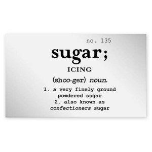 Icing Sugar Clear Jar Label
