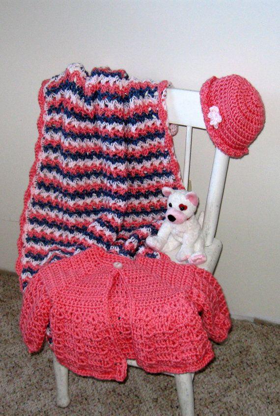 Travel Blanket Baby Stroller Blanket Sweater by NormasTreasures