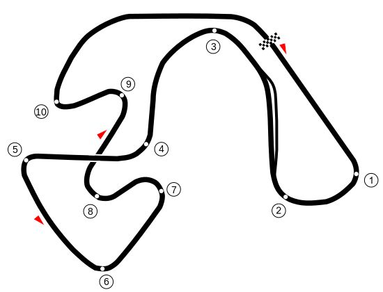 Here's a layout from a Finnish track, Ahveniston. Have been reading Shunt, the biography of James Hunt and there's mention of this track. Neat to see it has an over under. It moves around a lot. No time to rest.