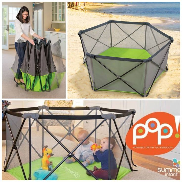 A portable play yard that can be used anywhere this summer!  Love it!