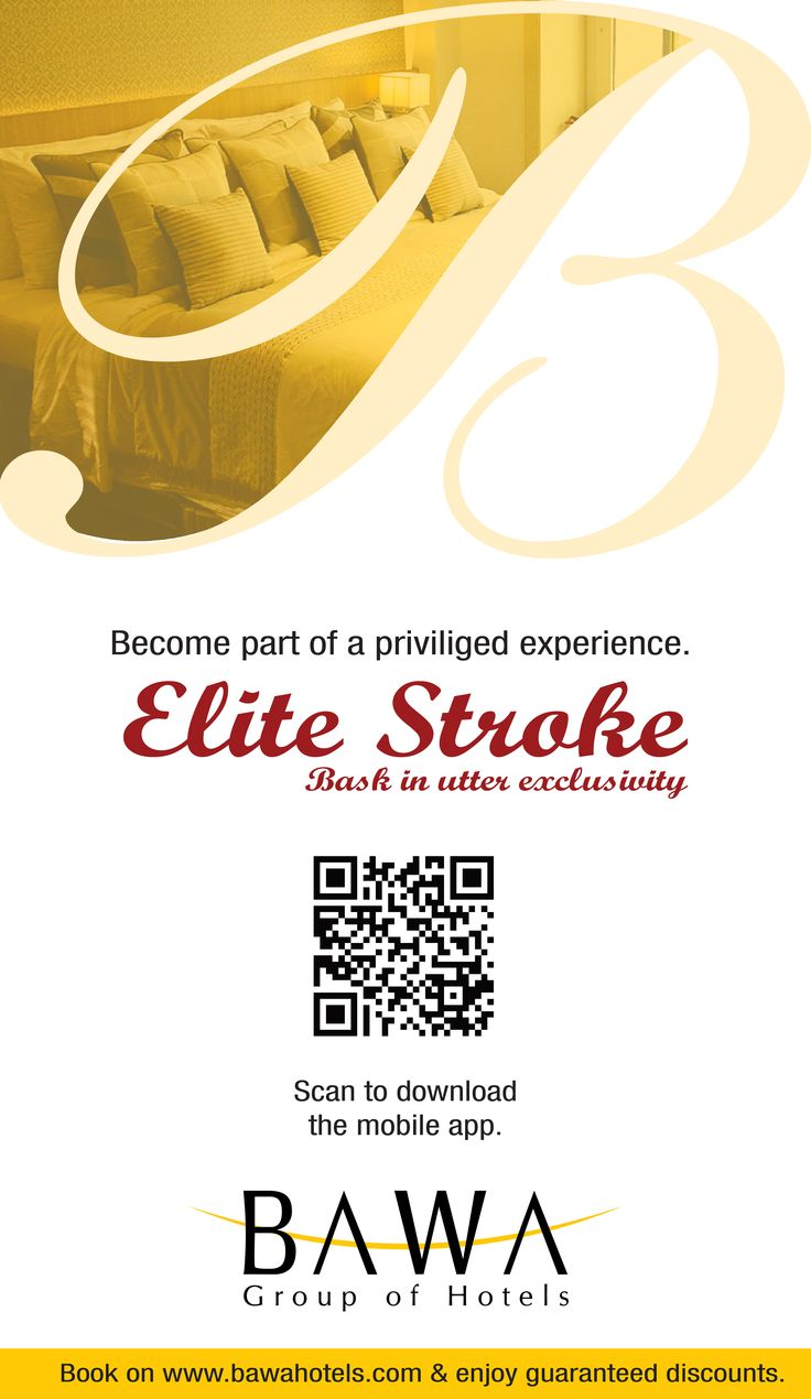 Come join us on a wonderful journey. Sign up for our exclusive Elite Stroke loyalty program to collect points every time you stay at any of our properties in Mumbai, India. It's an offer you can't miss. Clink on this link to sign up: http://bit.ly/elitestroke or send BAW<space>POINTS to 561616161. You can also scan the QR code on this pin. <3