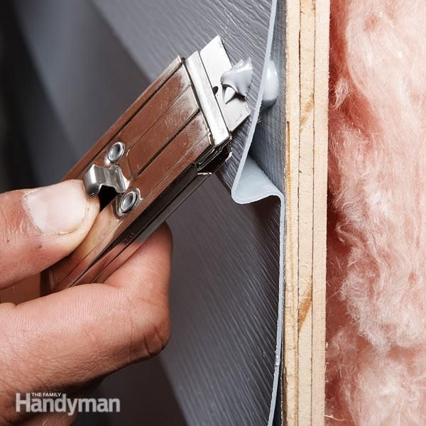 nail holes in aluminum and vinyl siding are tough to repair without replacing the entire piece, but a squirt of color-matched caulk from a siding supplier will solve the problem for a lot less money and aggravation.