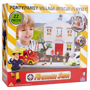 Fireman+Sam+Pontypandy+Village+Rescue+Playset