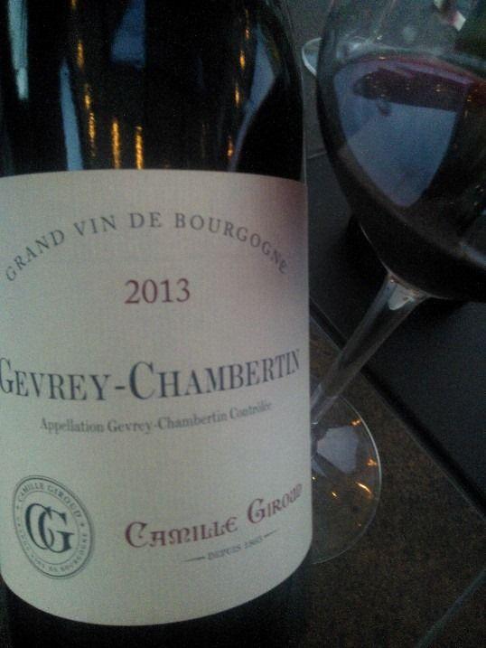 Sommelier Par Pur Plaisir : Camille Giroud Gevrey-Chambertin