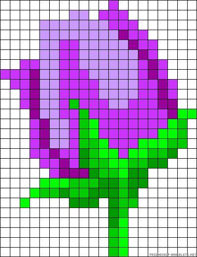 Tulip perler bead pattern