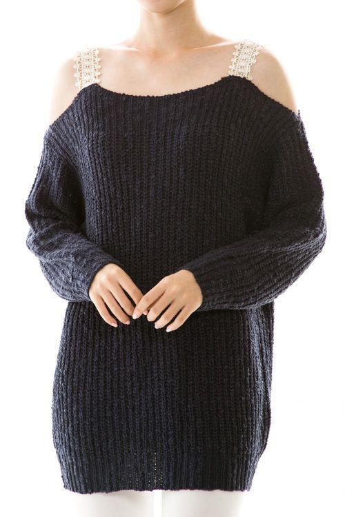 Solid Knit Drop Shoulder Top