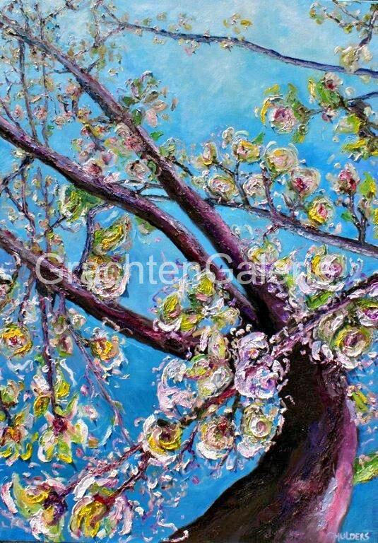 Bloesem Groot | Caroline Mulders | Schilderij | Natuur | Bloesem | Kunst | Art | Figurative