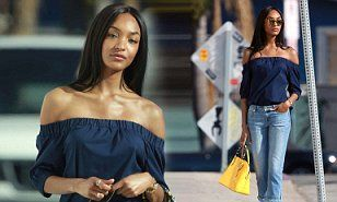 Jourdan Dunn looks chic at Los Angeles photoshoot #model #jourdan #dunn http://jacksonville.remmont.com/jourdan-dunn-looks-chic-at-los-angeles-photoshoot-model-jourdan-dunn/  # Jourdan Dunn looks effortlessly chic in a navy bardot top and cropped skinny jeans for photoshoot in Los Angeles By Rebecca Lawrence For Mailonline 01:09 BST 01 Feb 2017, updated 03:28 BST 01 Feb 2017 She's one of the most in demand models of the moment. And Jourdan Dunn lent her star power to another campaign as she…