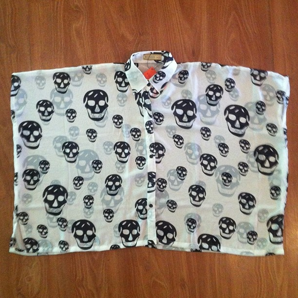 .Skull square shirt by @modernage_shop available in our store
