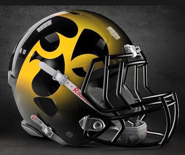 Iowa Hawkeye football this helmet would be awesome!