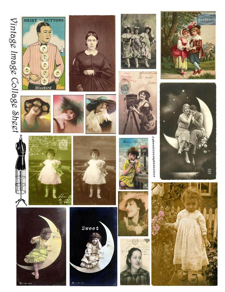 **FREE ViNTaGE DiGiTaL STaMPS**: Free Printable - Digital Collage Sheet