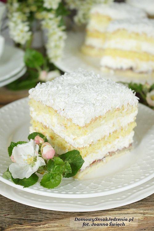 delikatne ciasto a la raffaello   Domowy Smak Jedzenia .pl