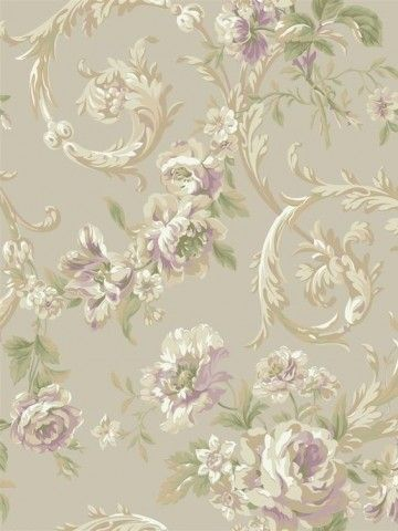 Georgetown Iridescent Rococco Floral Wallpaper By York