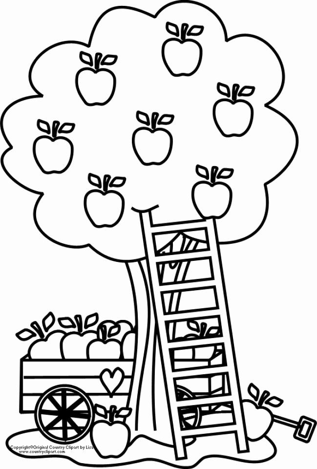 Apple Tree Coloring Page Inspirational Printable Apple Coloring Pages Line Gvjp19 Apple Coloring Pages Fall Coloring Pages Tree Coloring Page