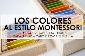 Los colores dentro de la educación Montessori los enmarcamos en el área sensorial, aunque ya sabéis que todas las áreas están interconectad...