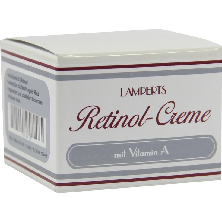 RETINOL Creme Lamperts:   Packungsinhalt: 50 ml Creme PZN: 04550476 Hersteller: Berco-ARZNEIMITTEL Preis: 6,28 EUR inkl. 19 % MwSt. zzgl.…