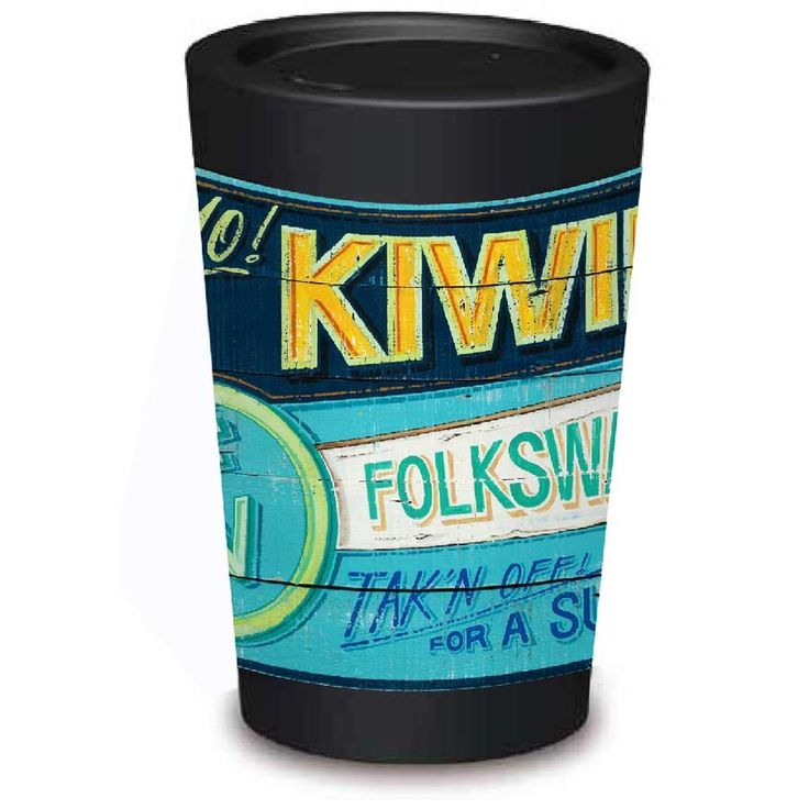 Reusable Coffee Cup Kiwilander by Jason Kelly