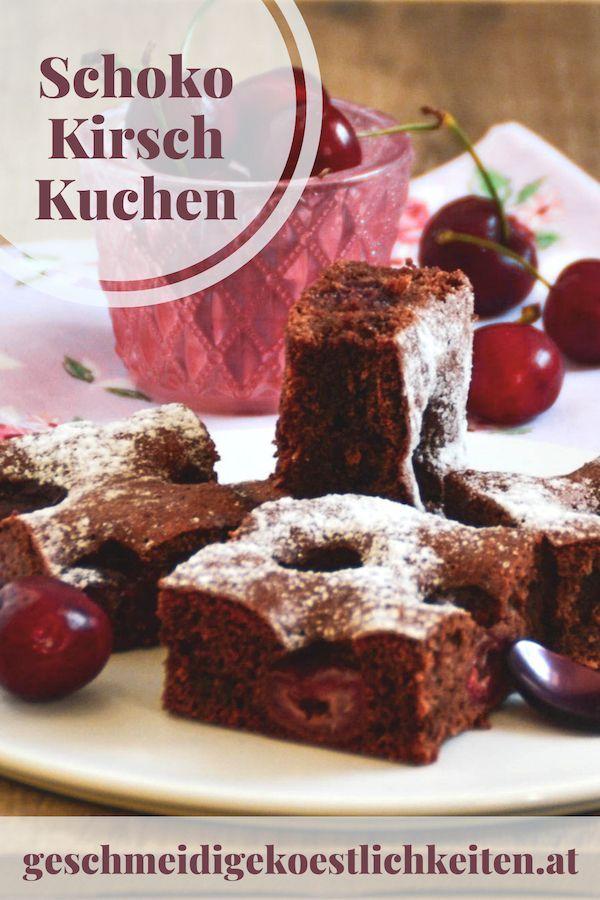 Schoko Kirschkuchen Rezept Kirschkuchen Kuchen Und Blechkuchen
