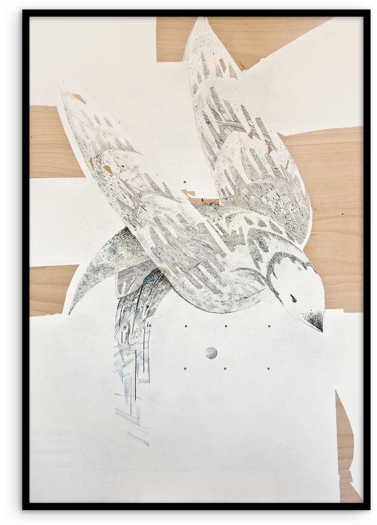 #KatarzynaBudka #guardian #Iwilltakeyouaway #ink #playwood #drawing #bird, www.projectbu.com