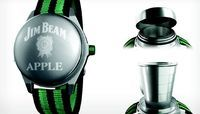 Jim Beam Apple Watch puts wearable whiskey on your wrist Had enough real Apple news today? Take a refreshing break with an oddball gadget announcement from Jim Beam whiskey.
