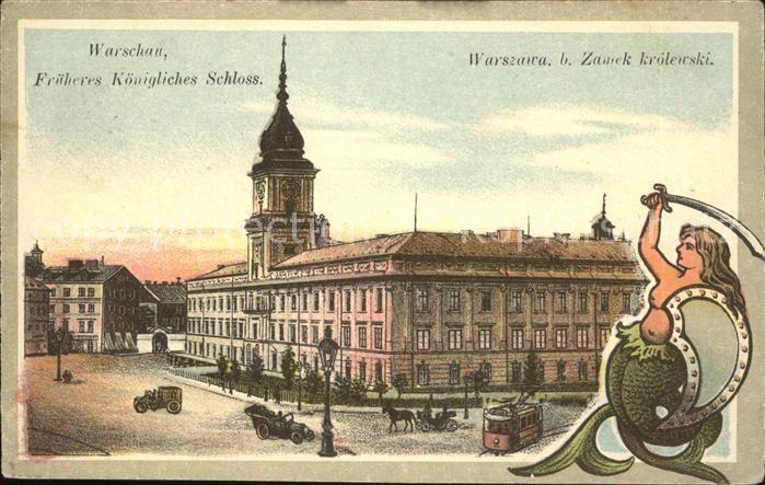 ka19152 Meerjungfrau Mermaid Warschau Koenigliches Schloss Kat. Maerchen und Sag