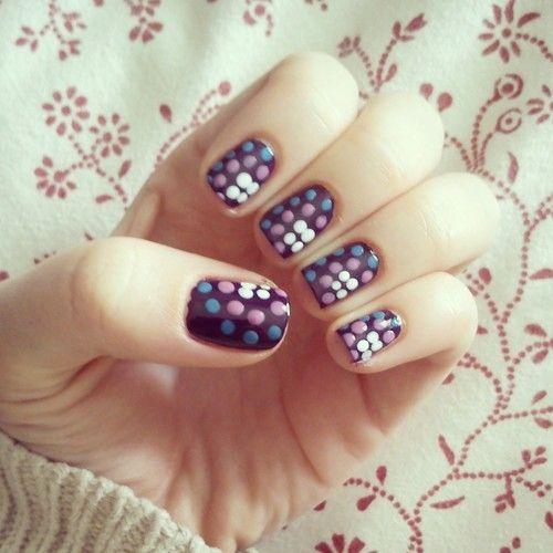 Candy spot nail art nails candy nail pretty nails nail art polka dot nail ideas nail designs