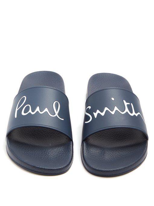 Paul Smith PS klassische Rubber Flip Flops schwarz