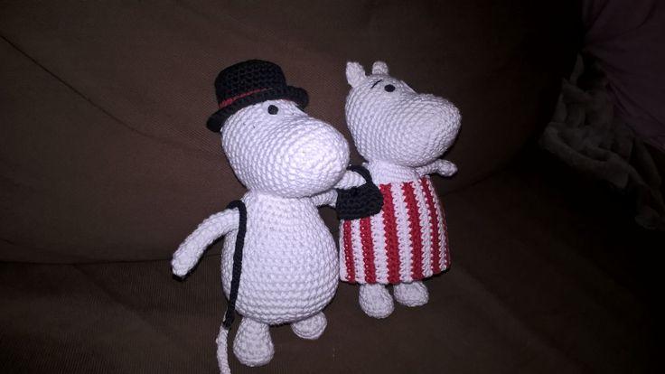 Moominmamma and moominpappa