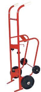 Milwaukee Hand Trucks 40774 55-Gallon 4-Wheel Steel Drum Truck by Milwaukee. $275.17. From the Manufacturer                This Milwaukee Four Wheel Steel Drum truck/Dispenser can handle 55 gallon drums and has a 1000-Pound load capacity. It allows the operator to tilt and lower drum to its horizontal position for dispensing or storage. It is useful on loading and receiving docks, industrial storerooms, warehouses, and distribution centers. It enables one person to...