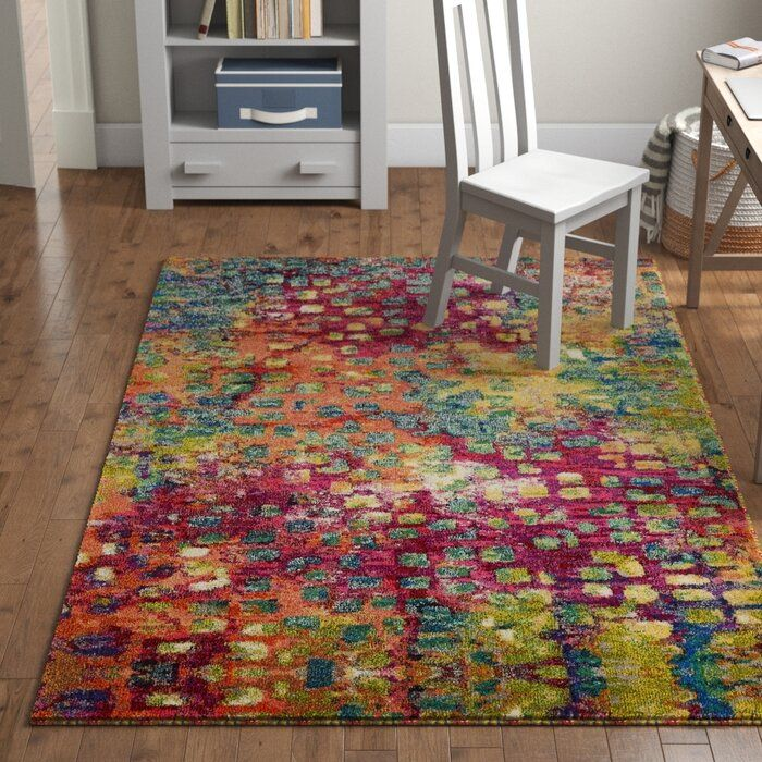 Well Woven Modern Bright Waves Abstract Yellow Multi Area Rug 7