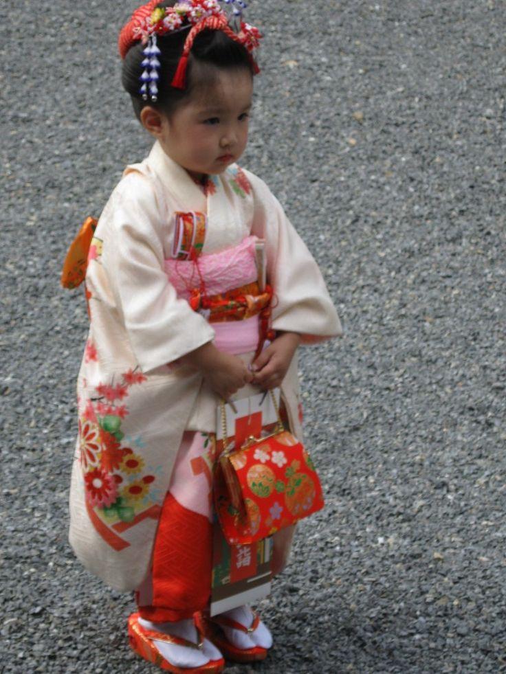 A beautiful little Japanese girl in Kimono... adorable!